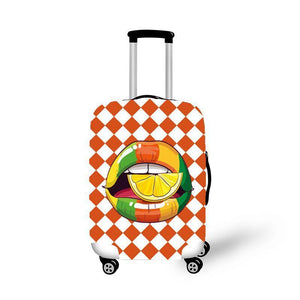 Cherry Lips Elastic Luggage Cover Durable Suitcase Protector