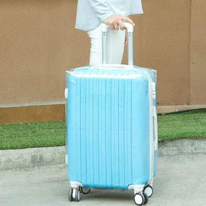 PVC Transparent Clear Waterproof Luggage Cover Trolley Case Cover Durable Suitcase Protector