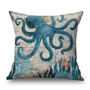 Marine Organism Ocean Print Pillow Case  Car Home Sofa Bed Decor