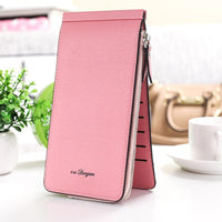 【Free Shipping】Microfiber Multi Card Slot Wallet Mobile Phone Bag