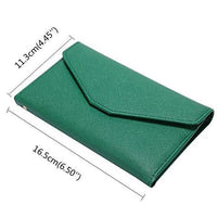 【Free Shipping】Women PU Leather Passport Bag Casual Purse Card Holder