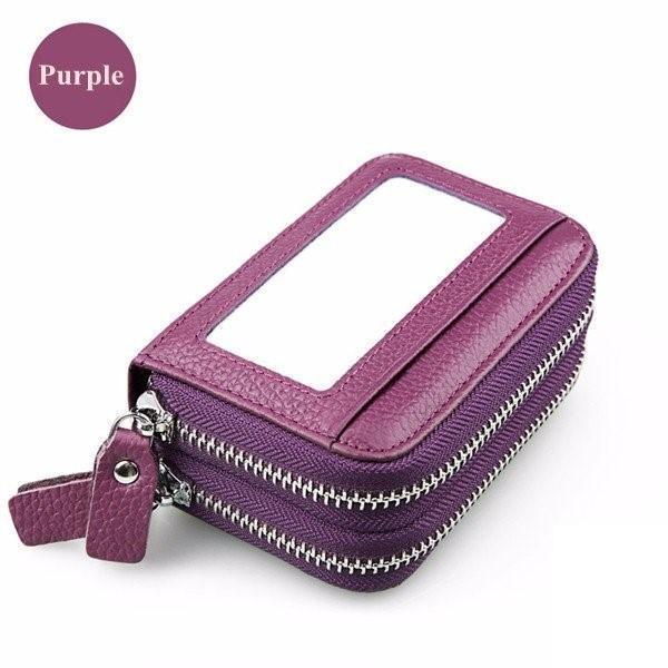 11 Card Slot Card Holder Leather 9 Color Wallet