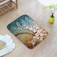 3D Article Oil Painting Pattern Door Mat Absorbent Carpet Non-slip Rug Home Decor