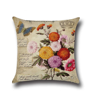 Garden Flower Print Cushion Pillow Case  Car Home Sofa Bed Decor