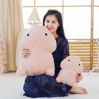 Creative Dingding Throw Pillow Kawaii Healing Plush Toy Dolls Fun Joke Festival Gift 4 Sizes
