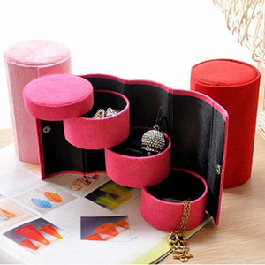 Favorable 3 Layers Storage Box Jewelry Necklace Earring Organizer