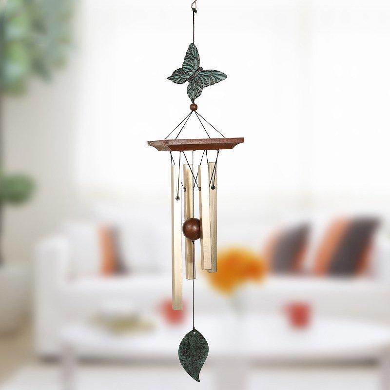 4 Tubes Wind Chimes for Garden Yard Outdoor Wind Chimes Copper Hanging Garden Ornament Gifts