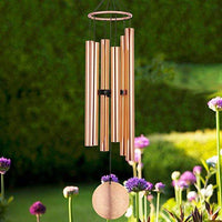 "28"" Memorial Musical Wind Chimes with 6 Aluminum Tubes Unique as A Gift or Home Garden Decor"