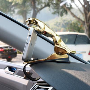 Universal 360° Rotating Car Leopard Phone Clip Holder