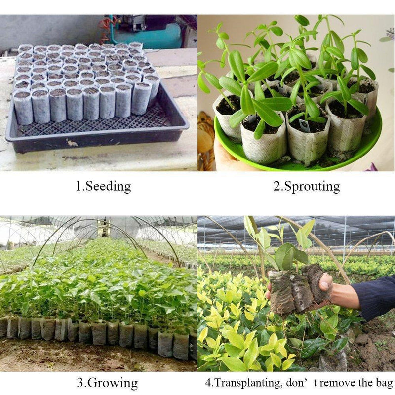 100pcs/Pack Garden Supplies Environmental Protection Nursery Pots Seedling Raising Bags Fabrics