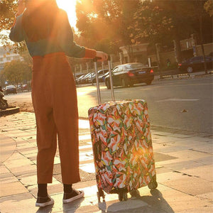 Abstraction Chinese Style Elastic Luggage Cover Trolley Case Cover Durable Suitcase Protector