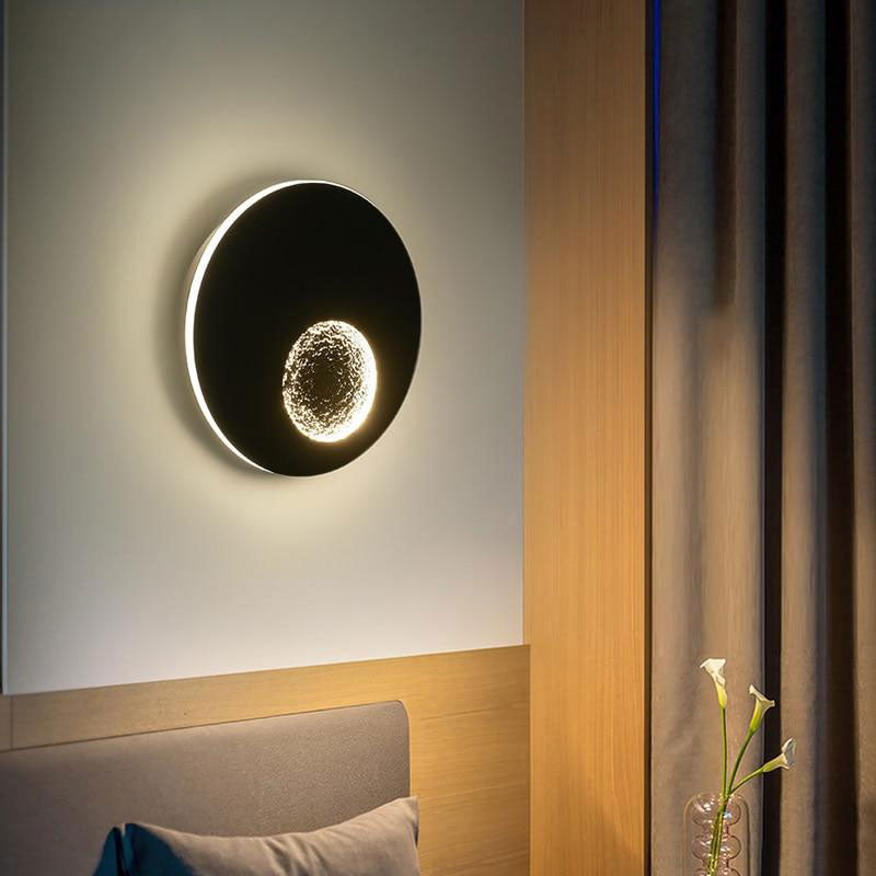 Modern LED Wall Lights For Bedside Corridor Lighting White Black Grey Creative Earth Sconce Lamp Luminaria Luminaire Deco Maison
