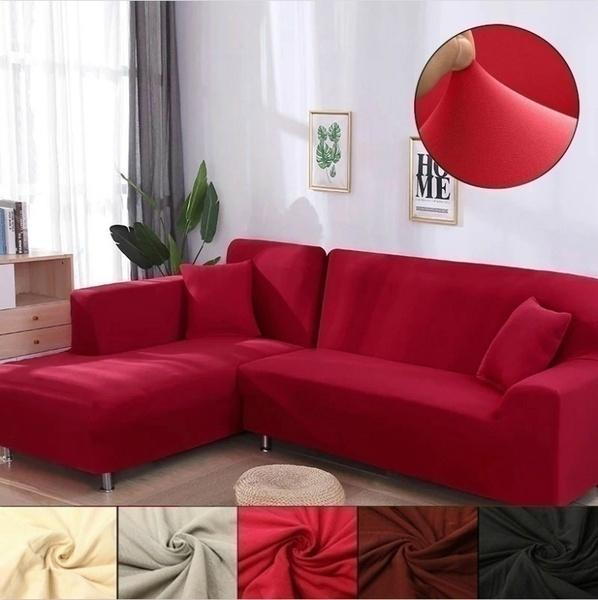 Solid Colors Slipcovers Home & Living Sofa Cover 1/2/3/4 Seats Recliner Protector
