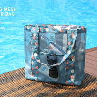 Beach Tote Bags Large Capacity Clothing Cosmetic Storage Bag Shopping Bag Outdoor Travel Shoulder Bag