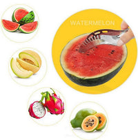 Stainless Steel Watermelon Slice Artifact Multi-functional Fruit Slicer Hami Melon Slicer Fruit Tool
