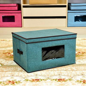 Creative Folding Storage Box with Window New Toy Storage Box