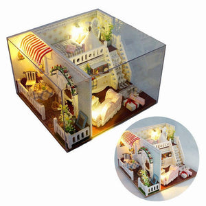 Miss Margaret's House DIY Dollhouse With Light Cover Miniature Model Gift Collection Decor
