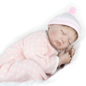 New Cute Silicone Reborn Baby Dolls Cloth Body with Cotton Clothes Kids Gift