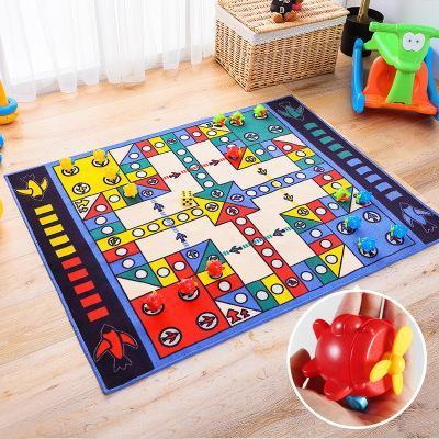 Funny Large Develop Children's Brain Aerocraft Carpet With Prop Home Decor