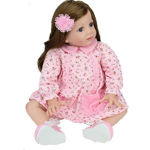 Simulation Soft Silicone Girl Doll Cloth Body Accompany Children Christmas Gifts Girl Gifts