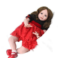 60cm New Silicone Vinyl American Girl Doll Accompany Girls Christmas Gift Girls Gift
