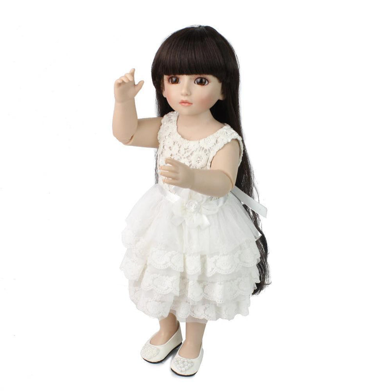 American Girl Doll Clothing with White Puff Sleeve Skirt for 19 Inches American Girl Dolls