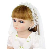 Full Silicone American Girl White Wedding Dress Outfit Brand New