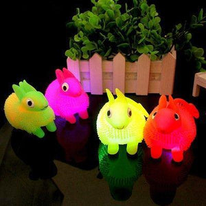 Light Rabbit Flash Children Stress Reliever Balls Light Up Intelligence Toys Party Favors