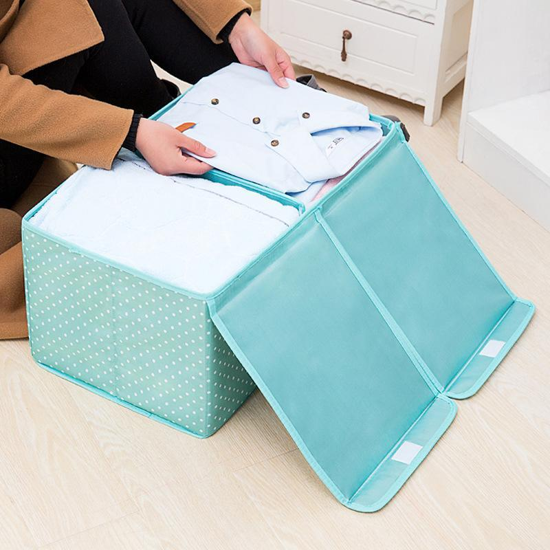 Large Capacity Waterproof Oxford Cloth Foldable Toy Clothes Storage Box With Double Cover