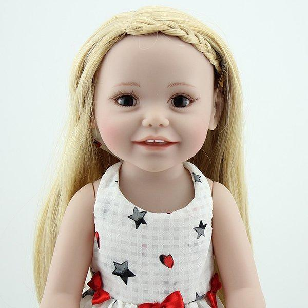 Handmade Doll Clothes White Puff Sleeve Skirt 19 Inch American Girl Doll Full Silicone
