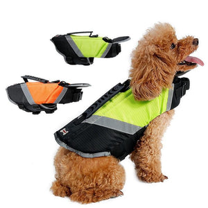 Dog Life Jacket Vest with Extra Padding for Dogs Reflecting Pet Floatation Jacket Float Coat
