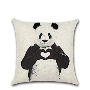 Lovely Giant Panda Print Cushion Pillow Case