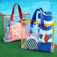 PVC Handbag Handcuffs Swimming Bag Portable Clothing Storage Bag Fashion Travel Beach Bag