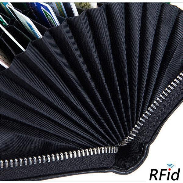 【Free Shipping】RFID Antimagnetic 36 Card Slots Card Leather Wallet