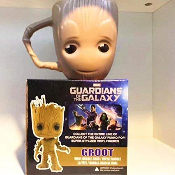 The Galaxy Groot Mug Handmade Ceramic Coffee Water Tea Cocoa Juice Cup