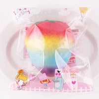 Squishy Rainbow Jam  Strawberry Jumbo 10*9.5cm Soft Slow Rising Fruit Collection Gift Decor Toy