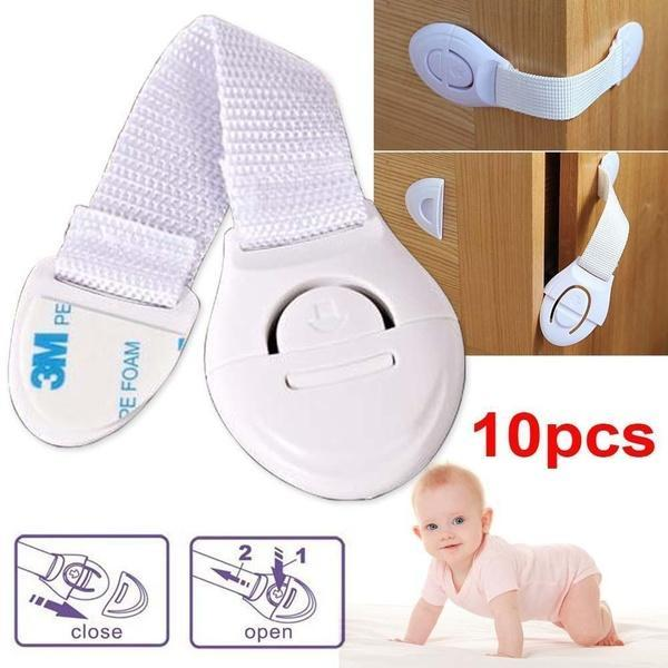 10 Pcs Child Infant Baby Kids Drawer Door Cabinet Cupboard Toddler Safety Lock