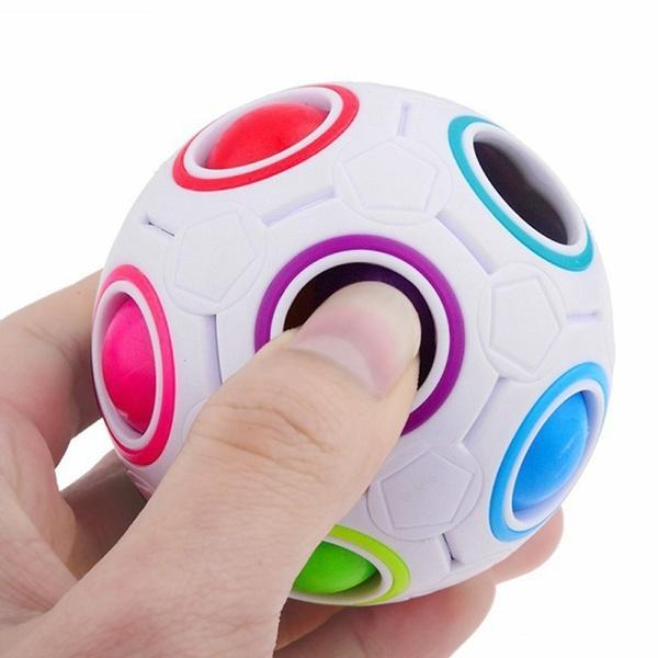 Adult Stress Relief Cube Rainbow Magic Ball Plastic Cube Twist Puzzle Children Toys