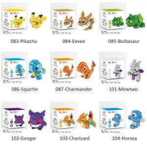 Unique Children Boys Cute Pokemon DIY Figures Model Diamond Toy Blocks Pikachu Plastic Pieces Kids Educational Building Blocks Gifts Accessories