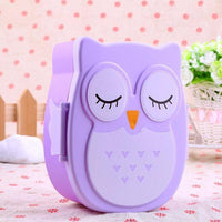 Cute Owl Lunch Box Food Fruit Storage Container Portable Bento Box Picnic