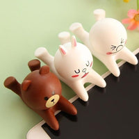 Cartoon Soft Cell Phone Support Steamed Bread Man Rabbit Bear Mobile Phone Bracket Silicone Holder Desk Support