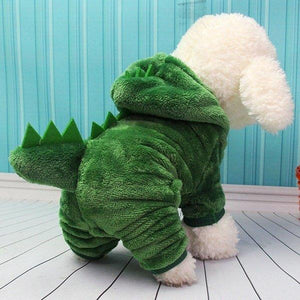 Dinosaur Change To Pet Clothes with Thick Warm Dog Clothes