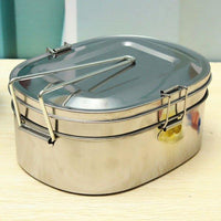 2 Layer Stainless Steel Lunch Box Bento Box Food Container Portable Multifunction Dinner Accessories