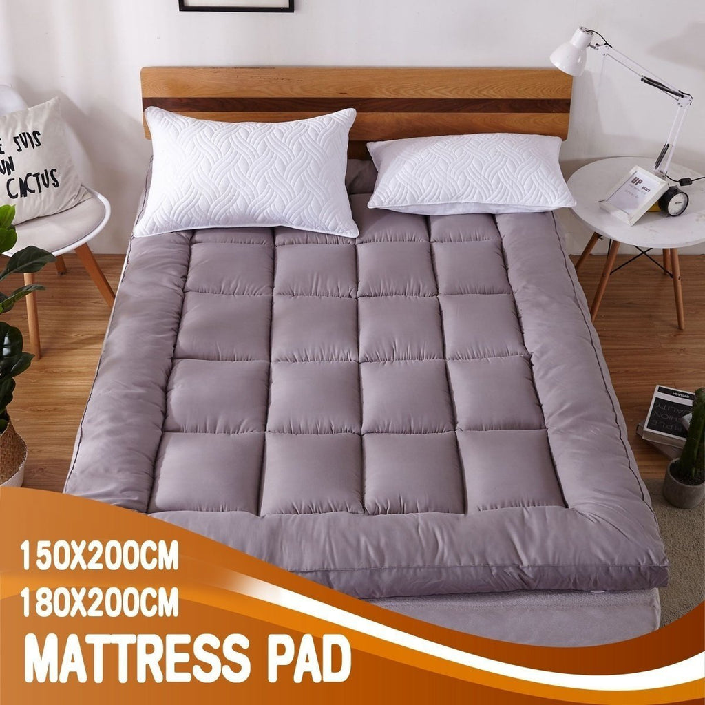 Ultra Soft King/Queen Size Feather Fabric Mattress Pad Topper Additional Pad Corner Strap Bed Accessories