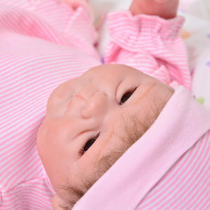 17 Inch Real Life Reborn Baby Dolls Soft Silicone Vinyl Reborn Lifelike Realistic Newborn Babies Girl Toy XMAS Gift