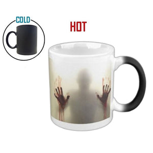 Fear The Walking Dead Zombie Mug Ceramic Coffee Milk Hot Cold Heat Sensitive Color changing Mug