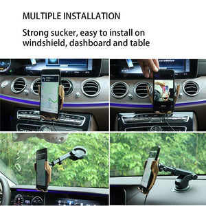 Wireless Charger Car Mount  Automatic Clamping