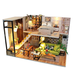 The Romantic Europe DIY House Furniture Music Light Cover Miniature Decor Toy