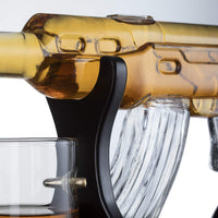Limited Edition Elegant Rifle Gun Whiskey Decanter