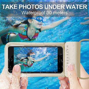 Mobile Phone Waterproof Bag PU Touch Screen Intelligent Drifting Outdoor Diving Swimming